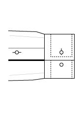 Sportmanschette doppel Einknopf