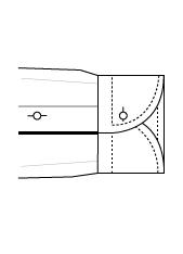 Sportmanschette rund Einknopf